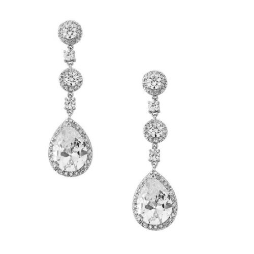 Crystal Drop Bridal Earrings,  Wedding Jewellery
